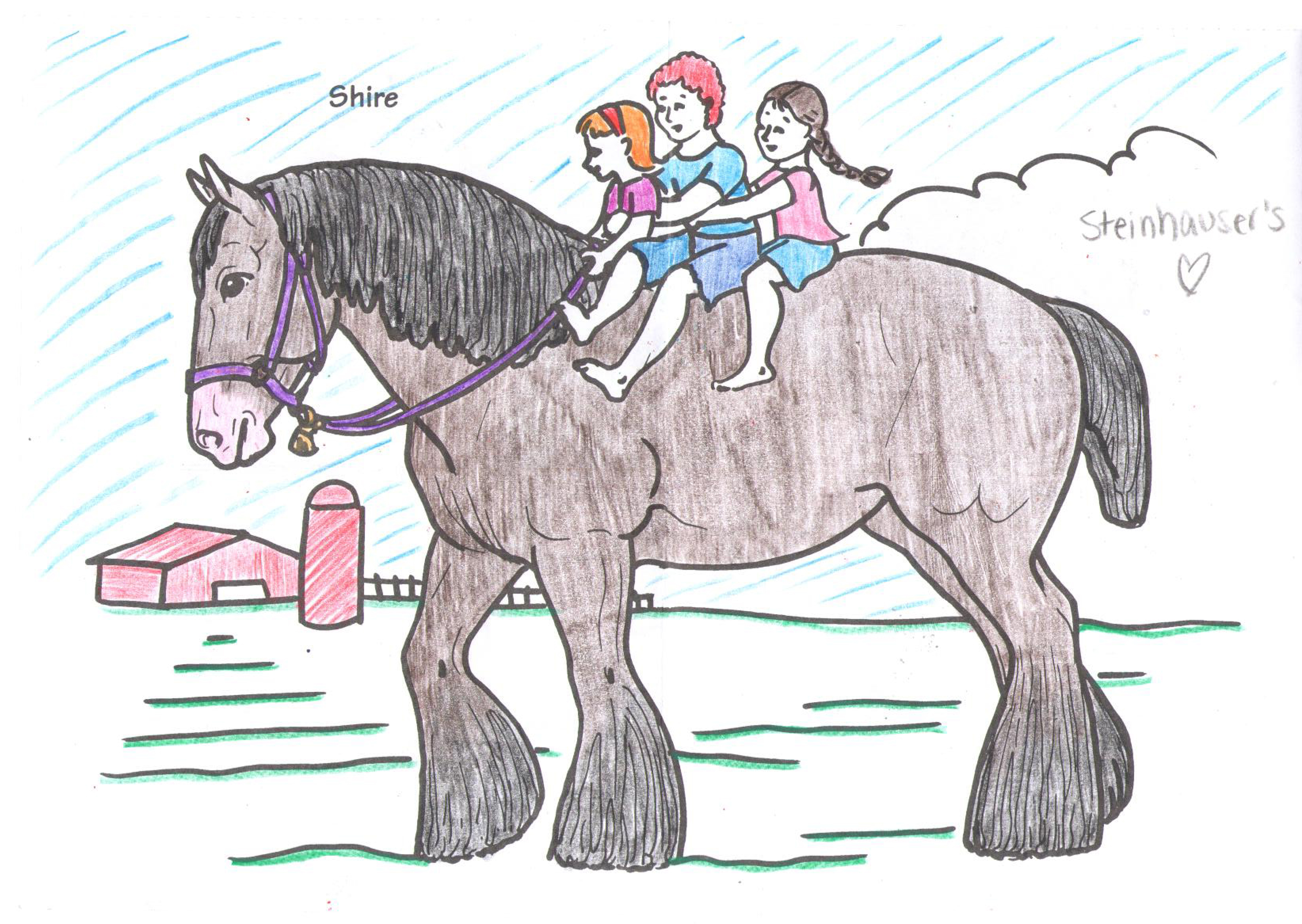 Free coloring pages of kind words for Breyer coloring pages