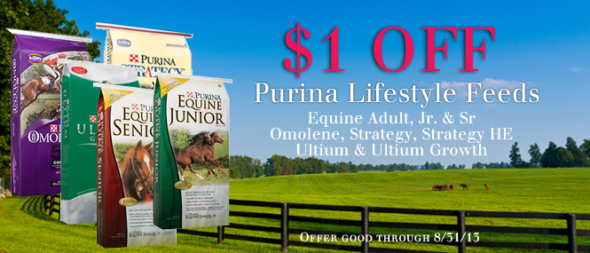 Purina ultium horse feed coupons